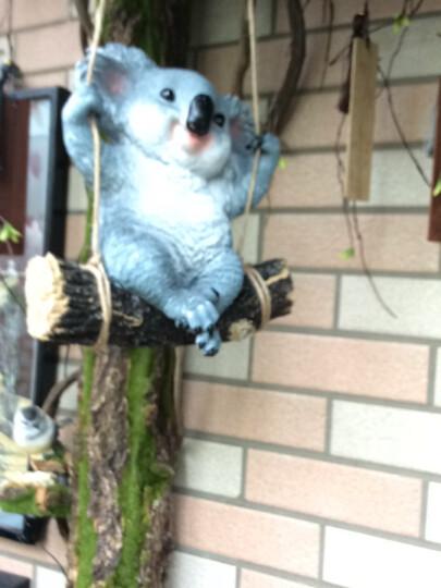 慧祥 花园装饰 庭院雕塑阳台摆设户外园林景观动物装饰品树脂工艺品仿真动物熊猫树熊考拉摆件 小考拉 晒单图