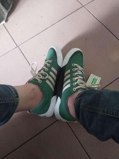 森马  夏季新款帆布鞋男 时尚英伦休闲鞋运动鞋流行男鞋 绿色 40 晒单图