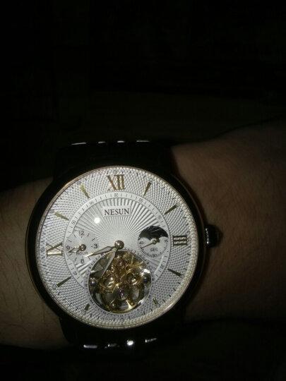 尼尚(Nesun)手表男士钟表 全自动机械手表 镂空男表 男士手表 夜光防水男士表 钢带白面金钉MS9091-JBJ 晒单图