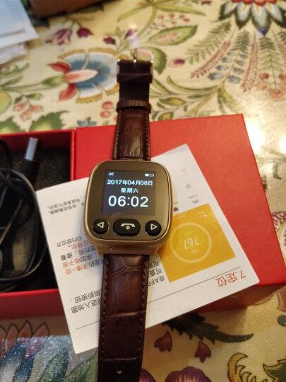 希比希 【关爱老人】老人智能电话手表学生手机成人防水多功能GPS定位器血压心率健康小米手环手表式 心率血压-土豪金 晒单图