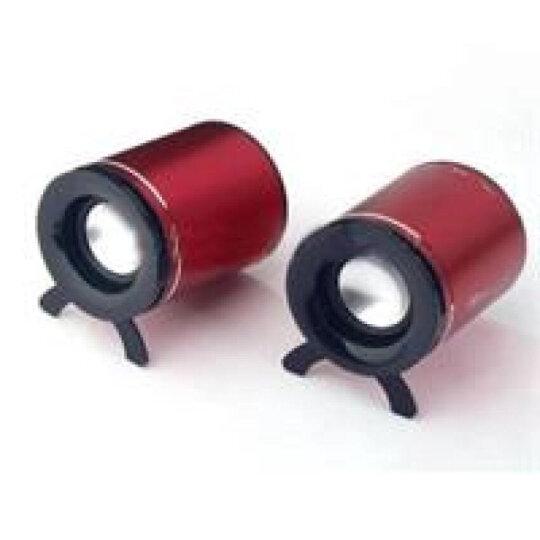 雅兰仕(EARISE) AL-206 线控版迷你2.0电脑音箱 红色 晒单图