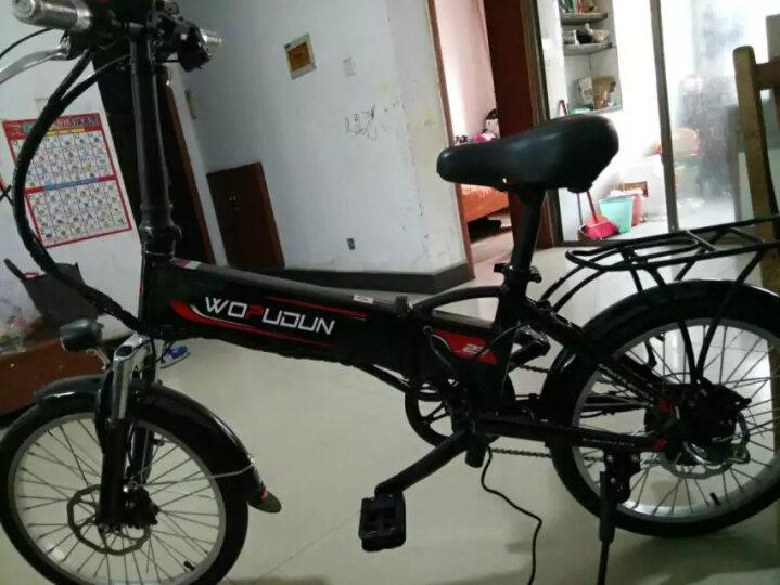 沃普顿(Wopudun) 沃普顿16寸电动自行车 亲子外卖电瓶车 电动车 锂电助力车真空轮胎 亲子款玫瑰金(18A)+遥控 晒单图