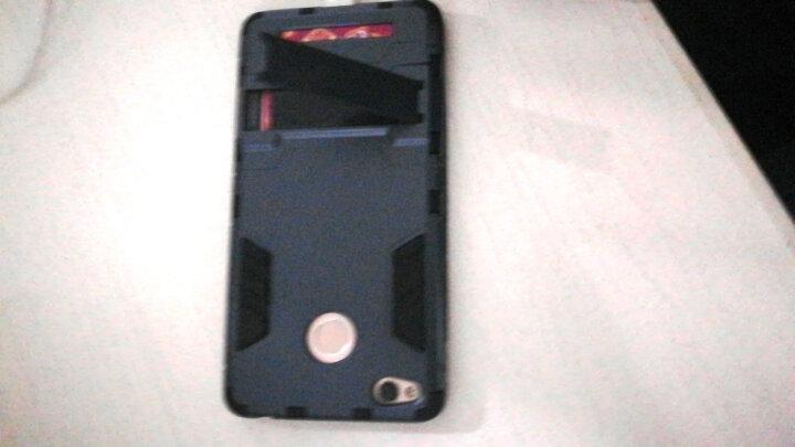 米基 红米3s手机壳保护套防摔硅胶硬男潮防摔 适用于小米红米3S 炫酷黑 晒单图