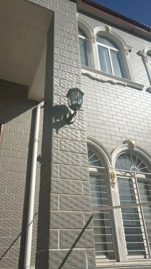 赫曼户外防水壁灯太阳能灯欧式阳台灯饰铁艺复古创意LED走廊过道室外墙壁灯庭院灯具 A款小号黑色 晒单图