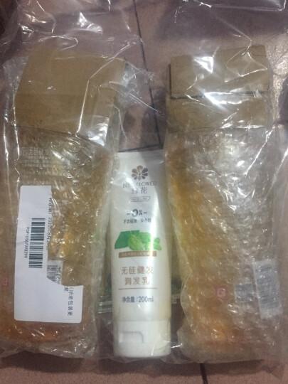 蜂花(BEE&FLOWER) 无硅健发洗发水/护发素 (无硅油,含生姜啤酒花精华) 洗发露750ml*3瓶 晒单图
