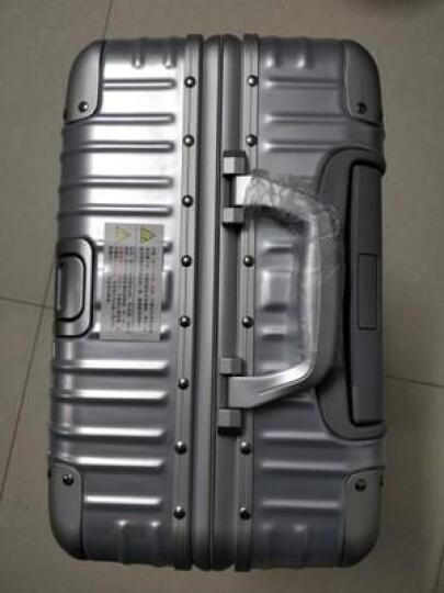 爱路思(AIRCROSS)铝框拉杆箱 20/24/26寸行李箱男女士旅行箱 皮箱万向轮登机箱 密码箱 黑色防刮款 26寸(需托运) 晒单图
