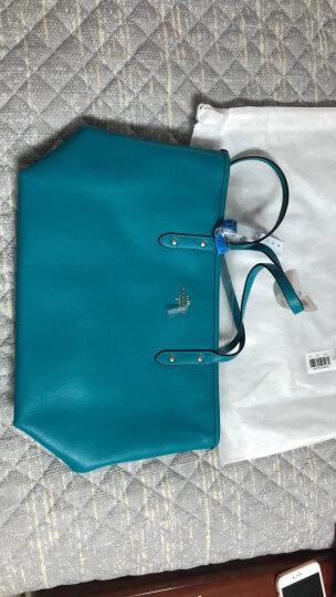 COACH 蔻驰 奢侈品 女士蓝色皮革手提单肩TOTE包大号托特包 F36875 SV/AZ 晒单图