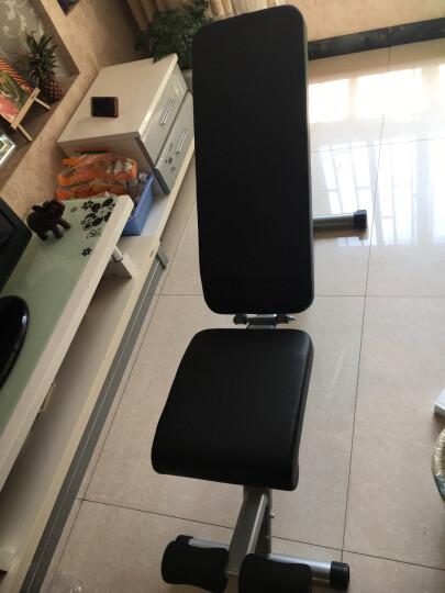 创思维 哑铃凳家用多功能健身椅专业杠铃平凳卧推床仰卧起坐板运动健身器材 CSW9010白+9018单双杆 晒单图