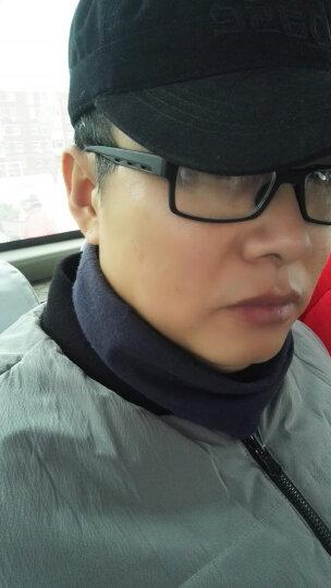 全框小框黑色近视眼镜成品tr90负离子眼镜框 双茶片400度 晒单图