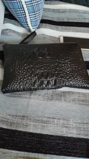 鳄鱼纹男士手包真皮男包大容量手拿包商务手抓包长款ipad钱 鳄鱼纹黑色 晒单图