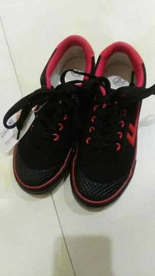 回力(Warrior) 男女儿童帆布鞋/儿童碎钉足球鞋/品牌童鞋 红色 36内长22.5cm 晒单图