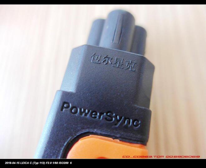包尔星克 联想华硕戴尔惠普 笔记本适配器电源线 抗摇摆梅花头三孔直插 0.5米(PowerSync)PWC-KNB050 晒单图