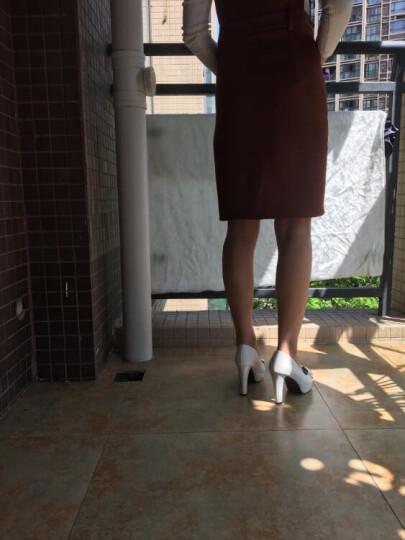 玉足天香凉鞋女高跟鞋细跟单鞋鱼嘴蝴鞋蝶结仙女鞋大小码32-43 白色【跟高8厘米】 37 晒单图