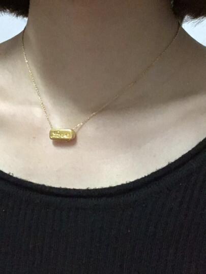周六福珠宝 黄金吊坠3D硬金吊坠女款长方形love 不含链AD040513 约1.10-1.29g 晒单图