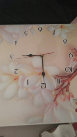 电表箱装饰画 有框水晶面带钟表可推拉配电箱遮挡画 墙面壁画挂画 14 70*50(内径60*40) 晒单图