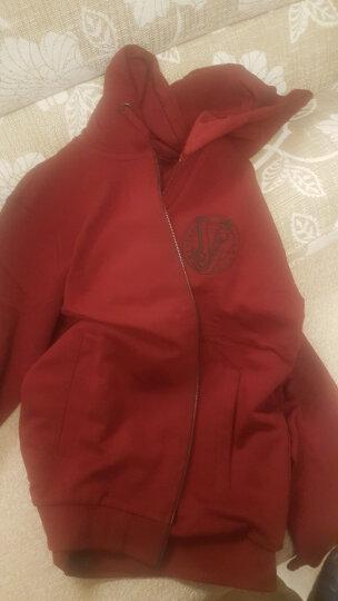 VERSACE JEANS范思哲男式枣红色棉质拉链连帽长袖卫衣B7GQB7FD 36604 349 L码 晒单图