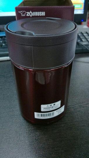 日本进口象印(ZOJIRUSHI)儿童保温桶 男女学生食物罐真空焖烧罐 不锈钢保温桶/壶  SW-HB45-VD 450ML咖啡紫 晒单图