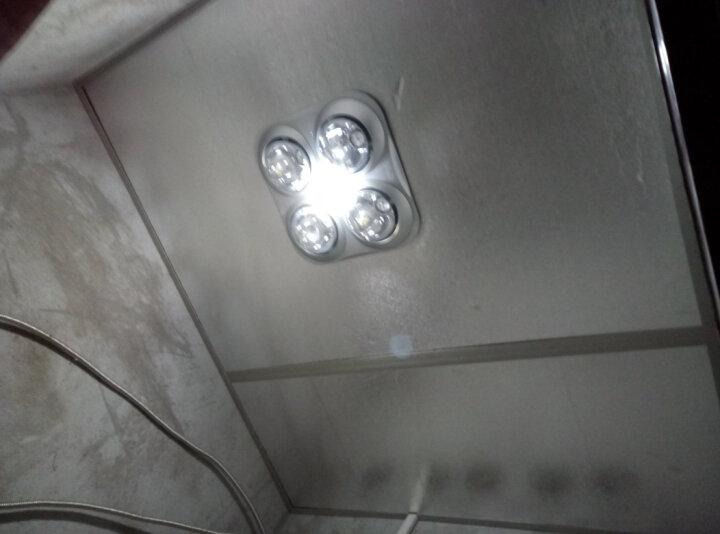 TCL 普通/集成吊顶四灯灯暖型浴霸 取暖照明换气三合一  防水防爆灯泡 普通吊顶-银色 晒单图
