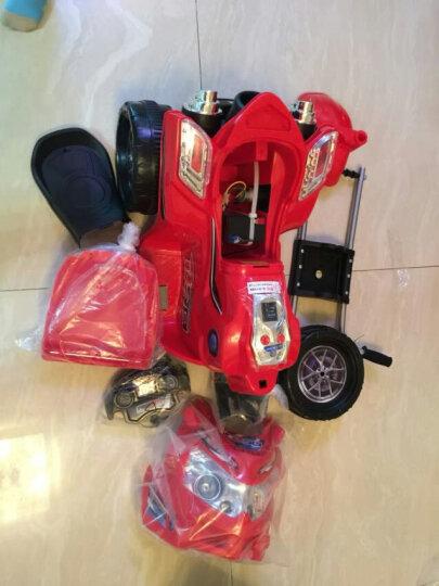 宝贝虎 新款童车摩托车儿童电动车三轮车宝宝电瓶车童车适合1-4岁小孩 大红色 晒单图