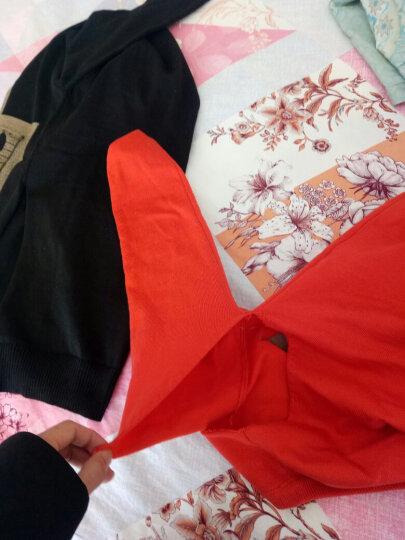 北极绒 毛衣女2019春季新款韩版女装套头百搭打底中长款加厚针织衫女长袖上衣 Z107 橘色 L 晒单图