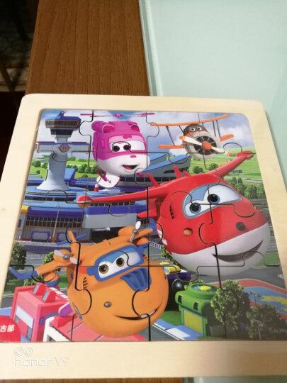 迪士尼儿童木质拼图玩具幼儿宝宝16块早教益智力木制立体积木拼板玩具男孩女孩2-3-4岁 【古部】激光切割无木刺拼图(16片)-冰雪奇缘 晒单图