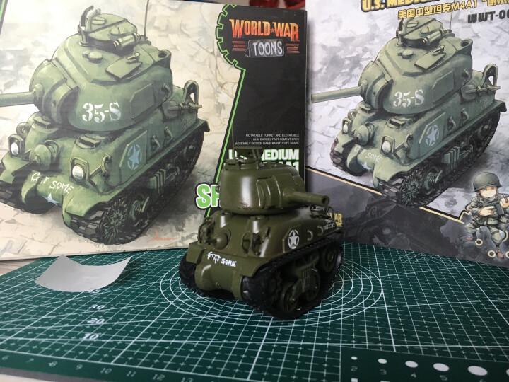 """MENG Q版拼装军事仿真模型二战轰炸战斗机虎式坦克舰船免胶益智组装玩具 美国M4A1""""谢尔曼"""" 晒单图"""