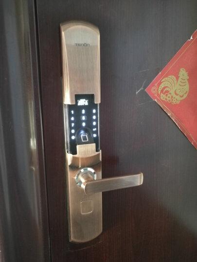 亚太天能(TENON) T3e指纹锁智能锁电子门锁密码锁刷卡锁家用防盗门锁包安装 青古铜高配版+指纹+密码+钥匙+刷卡+微信网关 晒单图