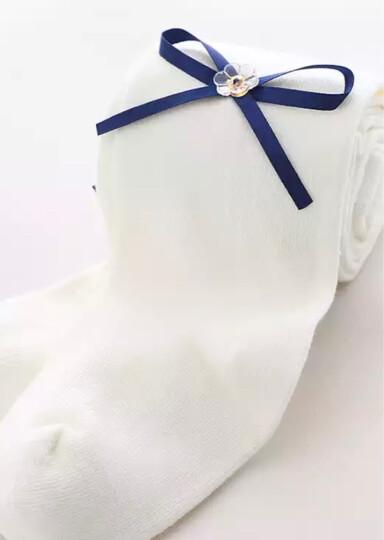 妙心坊 儿童连裤袜春季宝宝打底裤精梳棉公主连体袜女童装白色舞蹈袜子 猫咪-麻灰+紫 120cm适合115-125 晒单图