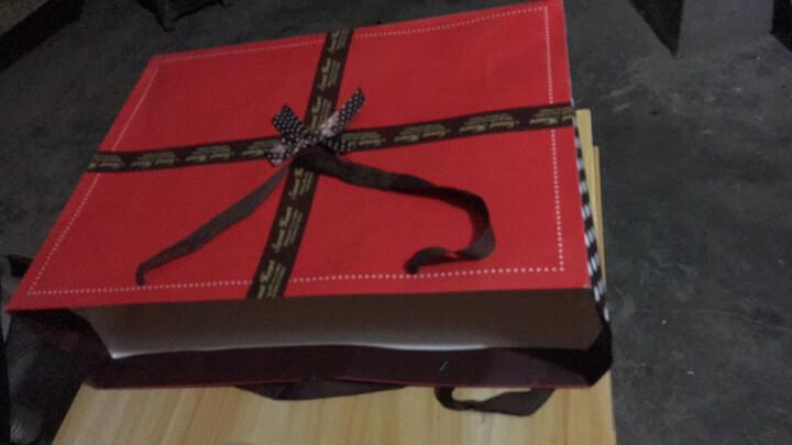 礼物袋节日礼品袋纸袋 生日礼物包装袋 婚礼手提袋 结婚回礼袋子婚庆糖袋 红色圆点蝴蝶结 加大46*14*35cm 晒单图