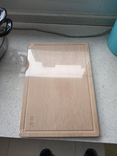 拾画 整竹砧板套装 梯形斜边设计 送砧板架 竹案板 切菜板2件套(40*28*1.8cm+34*24*1.5cm)SZ-6174 晒单图