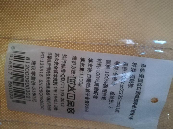 富安娜家纺 鹅绒被冬被芯被子鹅绒被子双人羽绒冬厚被 分区立体白鹅绒被 1.5m(203*229cm) 晒单图