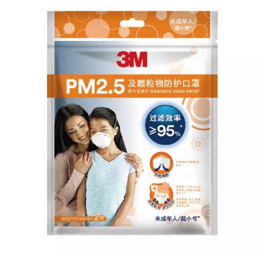 3M 口罩防流感病毒 防雾霾 防pm2.5 防粉尘 5个/包 9033 男女通用型小号口罩 晒单图