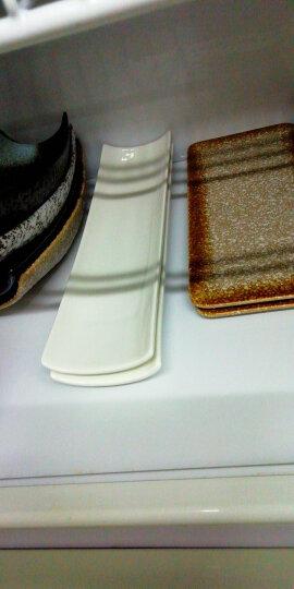 萌碎日式寿司盘子碟子西餐餐具创意简约现代家居生活日用个性菜盘白色陶瓷酒店餐具长条盘子用具 13英寸日式寿司/冰裂釉 晒单图