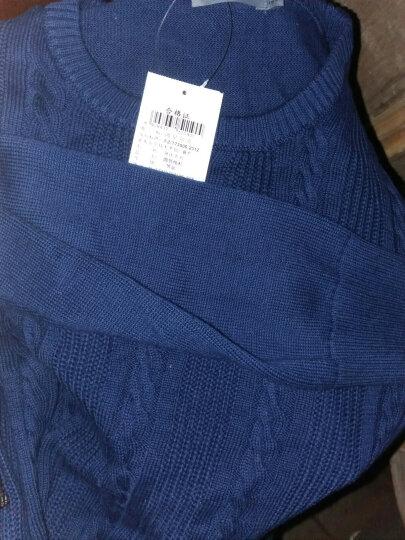 鸿星尔克官方旗舰店 线衫女圆领休闲外套女款套头针织线衣长袖上衣 藏蓝(竖纹) XL 晒单图