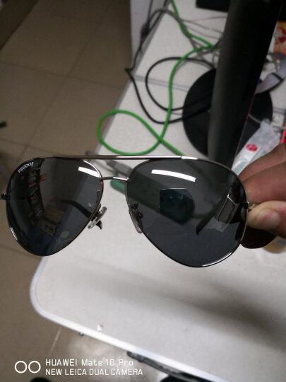 威古氏(VEGOOS偏光太阳镜男款男士司机驾驶镜飞行员经典蛤蟆镜墨镜户外眼镜3025 银框渐进灰片 晒单图