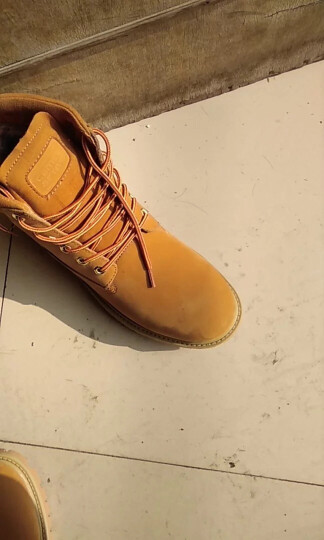 骆驼动感男靴棉靴鞋2017冬季加绒保暖雪地靴子时尚马丁靴大黄靴子1785 3194黄棕/加绒 40 晒单图
