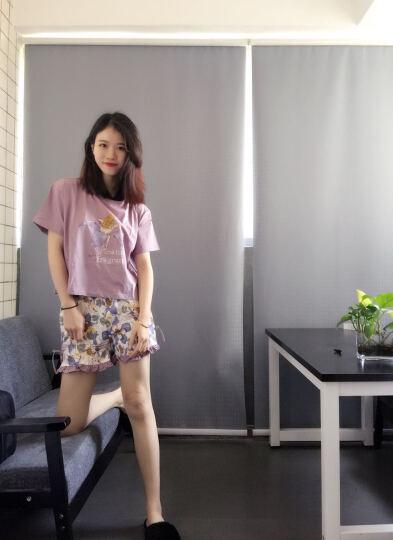 斯服玛sifuma 睡衣女夏季新品纯棉短袖套装休闲可爱卡通女士家居服可外穿秋夏季 W004豆沙粉 M 晒单图