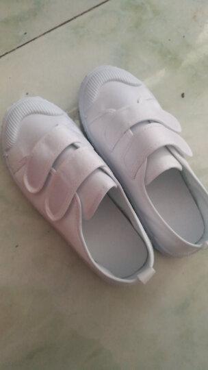 素肌棉儿童小白鞋男女童白鞋儿童白色舞蹈鞋学校运动鞋男孩女孩学生小白鞋 款一 30(鞋垫长约19.5cm) 晒单图