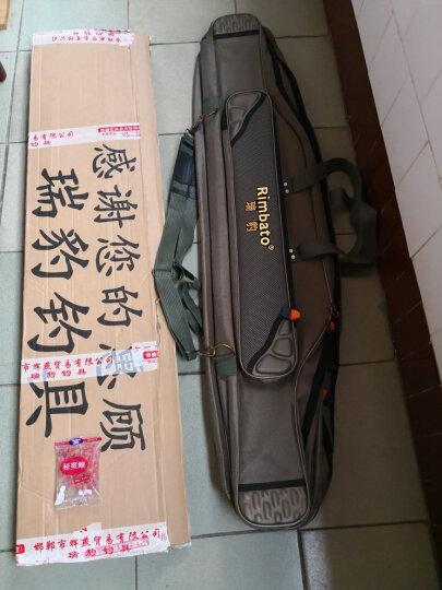 瑞豹(Rimbato) 渔具包80cm 90cm1米120 1.3米大肚钓包加厚加大海包鱼竿包钓杆包 咖啡色 加厚120cm3层大肚包 晒单图