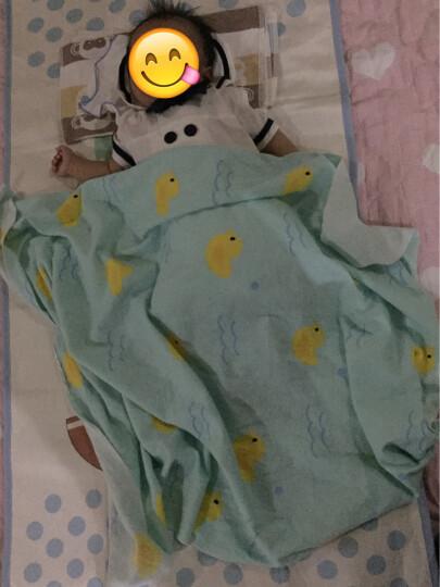 好奇鱼 婴儿凉席 新生儿冰丝凉席 婴儿床凉席 儿童幼儿园宝宝凉席枕头套装120x60cm 酷夏船长2件套 晒单图