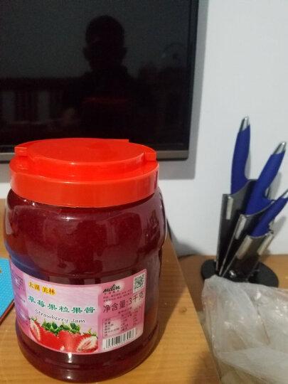 太湖美林 草莓果粒果酱批发冰粥刨冰圣代酱3KG 日期不断更新 晒单图