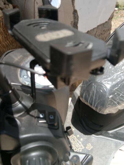 德尔雷摩托车手机支架带充电器通用快速充电骑行防水装备雅马哈铃木五羊本田地平线踏板车鬼火配件 黑色后视镜支架一套 晒单图