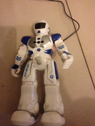 宝贝星(BBS) 机器人玩具智能 新威尔机械战警会跳舞遥控对话机器人男孩儿童益智 机械战警(遥控感应蓝色) 晒单图