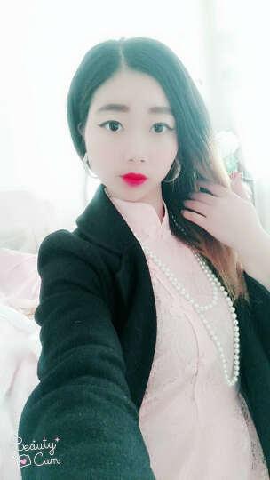 艾慕琳蕾丝连衣裙中长款2018春季新款修身显瘦复古旗袍大码女装七分袖性感裙子B18 白色 M 晒单图