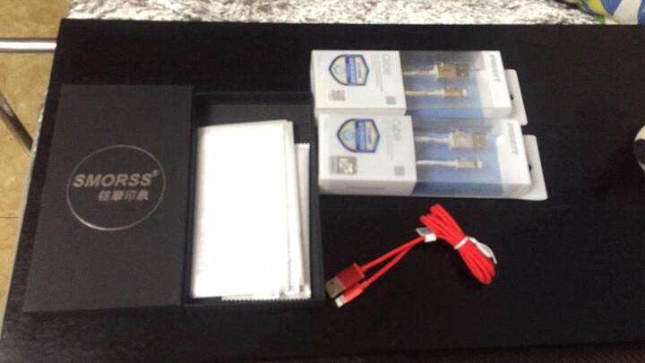 品胜(PISEN)苹果双面USB尼龙数据线 X/8/7/5s手机充电线 适用iphone5/6s/7P/SE/ipad Air mini 银灰色1米 晒单图