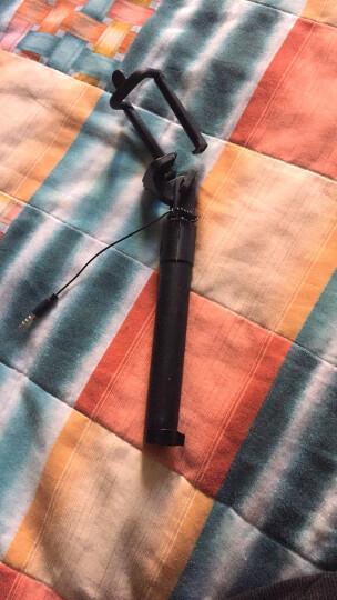 GISSO 无需蓝牙自拍杆神器杆 便携式线控手机拍照自拍杆通用 耳机孔拍照自拍神器 三代黑色 晒单图