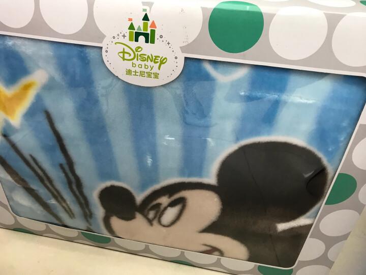 迪士尼宝宝儿童毛毯双层加厚婴儿毯子礼盒装蓝色135*105CM 晒单图