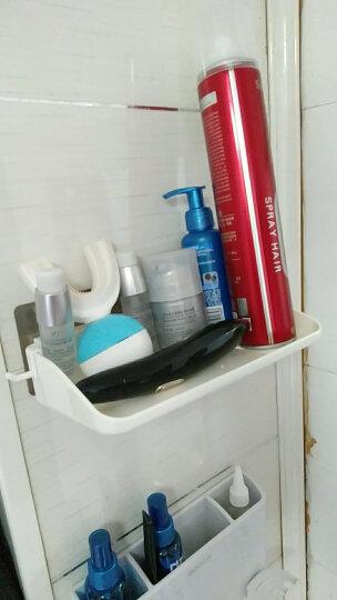 双庆 吸盘无痕贴置物架厨房调味架浴室沥水收纳架洗漱架壁挂 白色 29.5*9.5*6.5cm 晒单图