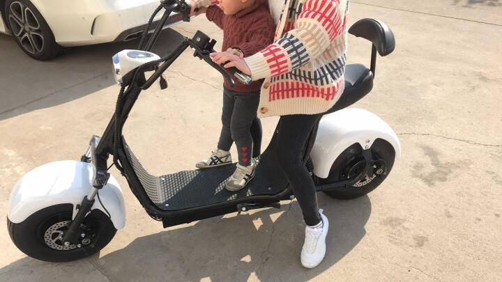 大哈雷电动滑板车电动两轮成人代步车60v 拉风款大宽轮胎 标配 晒单图