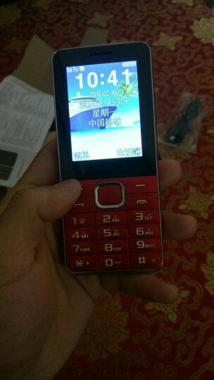 守护宝(angelcare)L550 红色 直板按键 超长待机 移动联通2G 双卡双待老人手机 学生备用老年功能机 晒单图